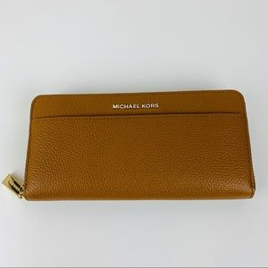 New Michael Kors Mercer Leather Wallet Phone Case